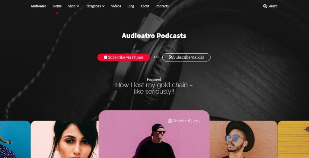 audiatro wp theme layout