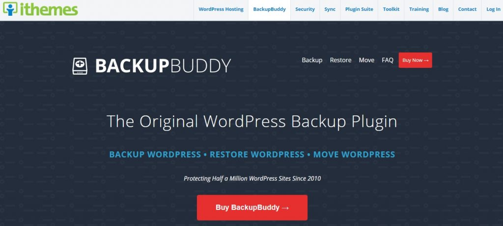backupbuddy plugin homepage preview