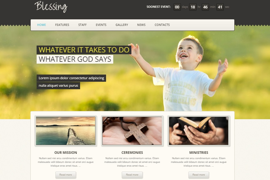 blessing wordpress theme preview
