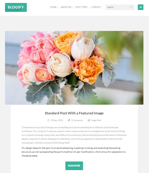 blogify wordpress theme for blog authors