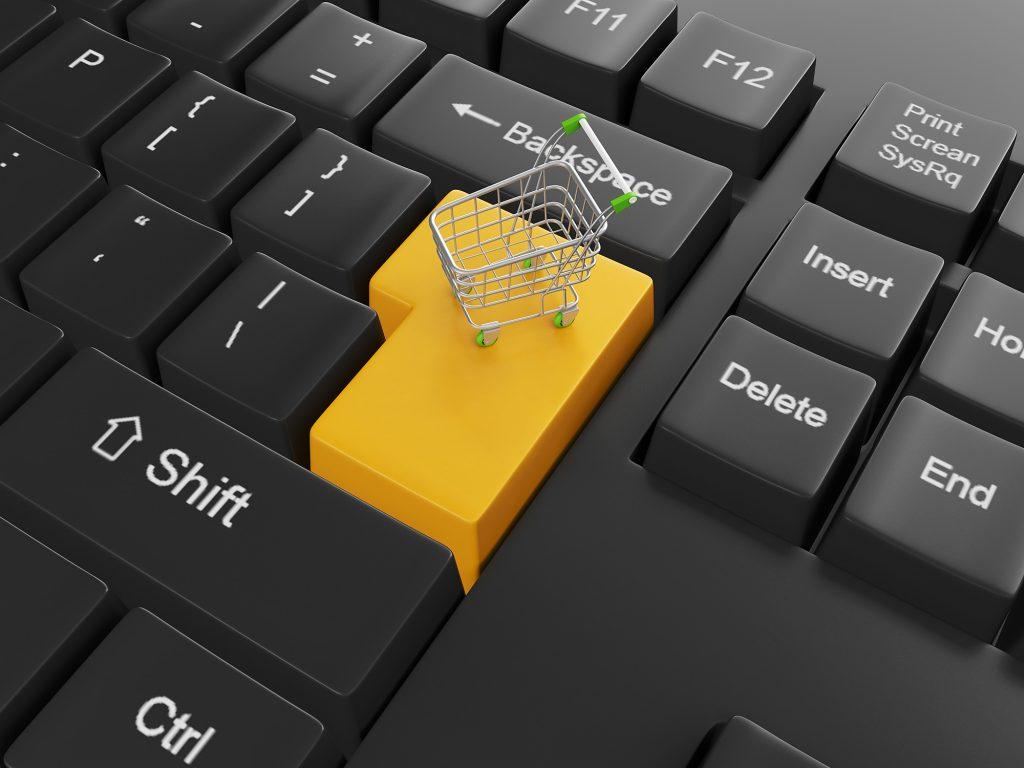 cart button representing online shopping