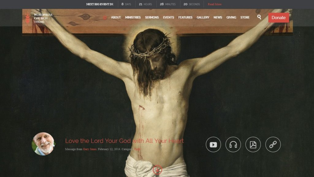 church wp theme for churches and events