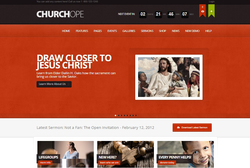 churchope wordpress theme preview