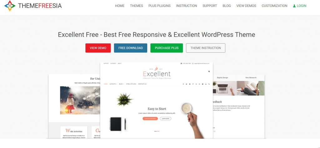excellent wordpress theme preview