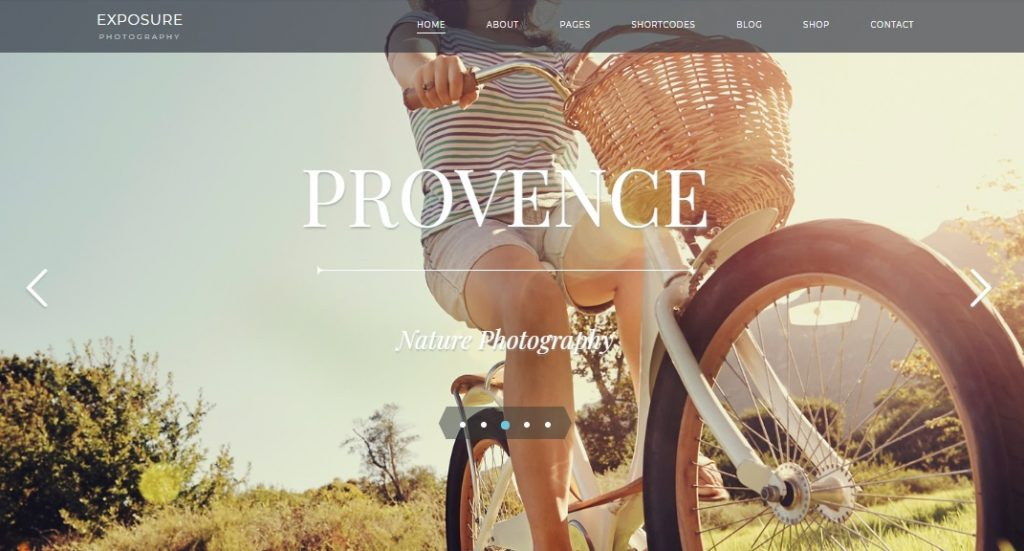 exporsure photography wordpress theme preview