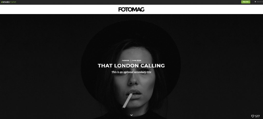 fotomag theme for visual storytelling
