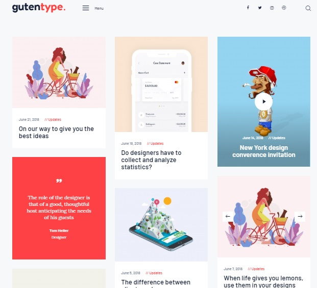 gutentype wordpress theme