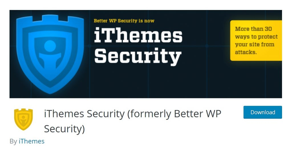 iThemes Security wordpress plugin page