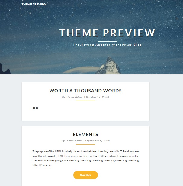 lighthouse wordpress theme homepage