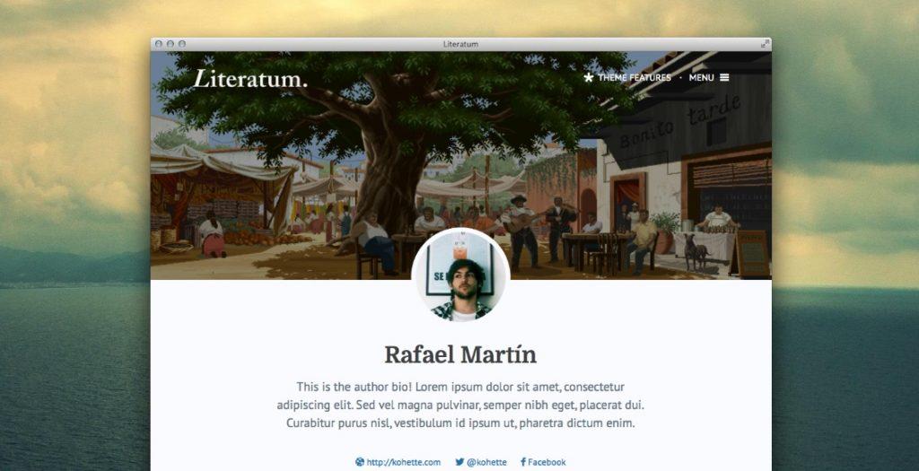 literatum theme homepage