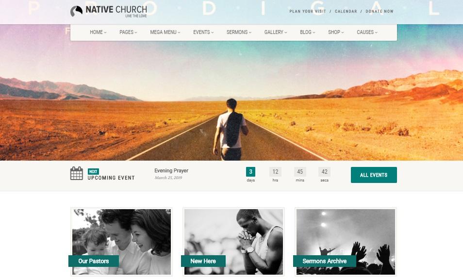 nativechurch wordpress theme preview