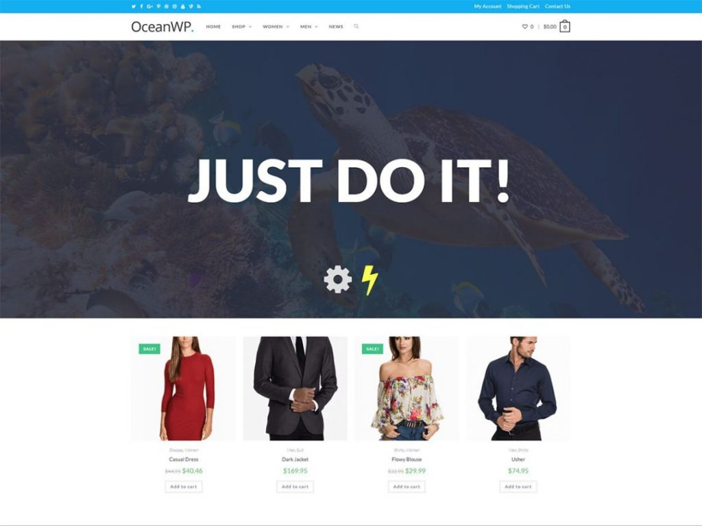 oceanwp wordpress theme preview