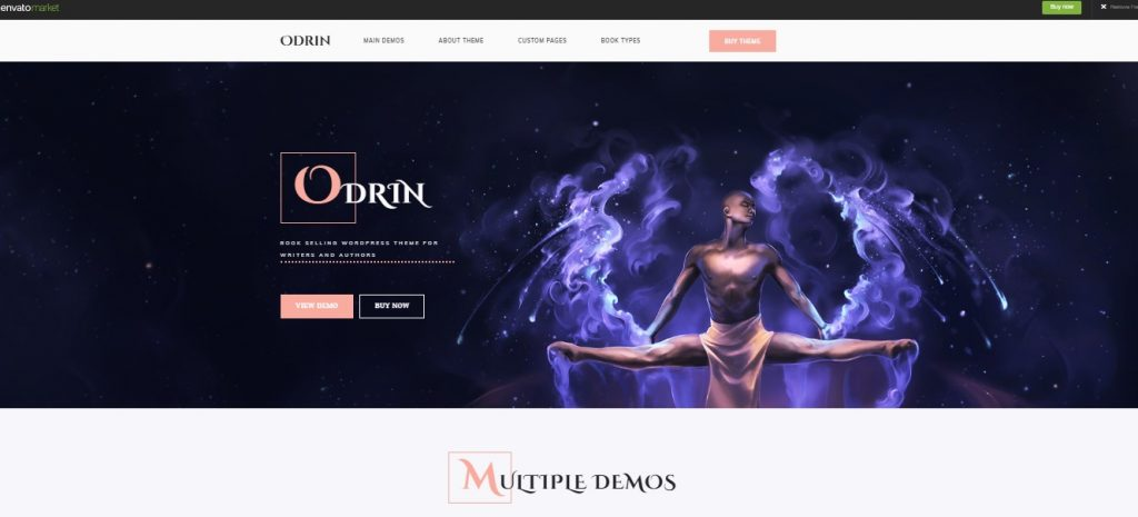 odrin theme homepage preview