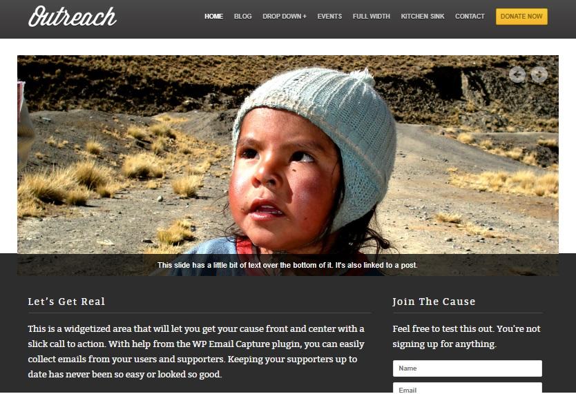 outreach wordpress theme preview