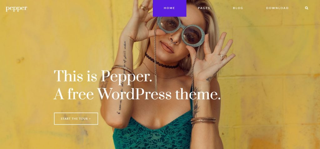 pepper free wordpress theme layout