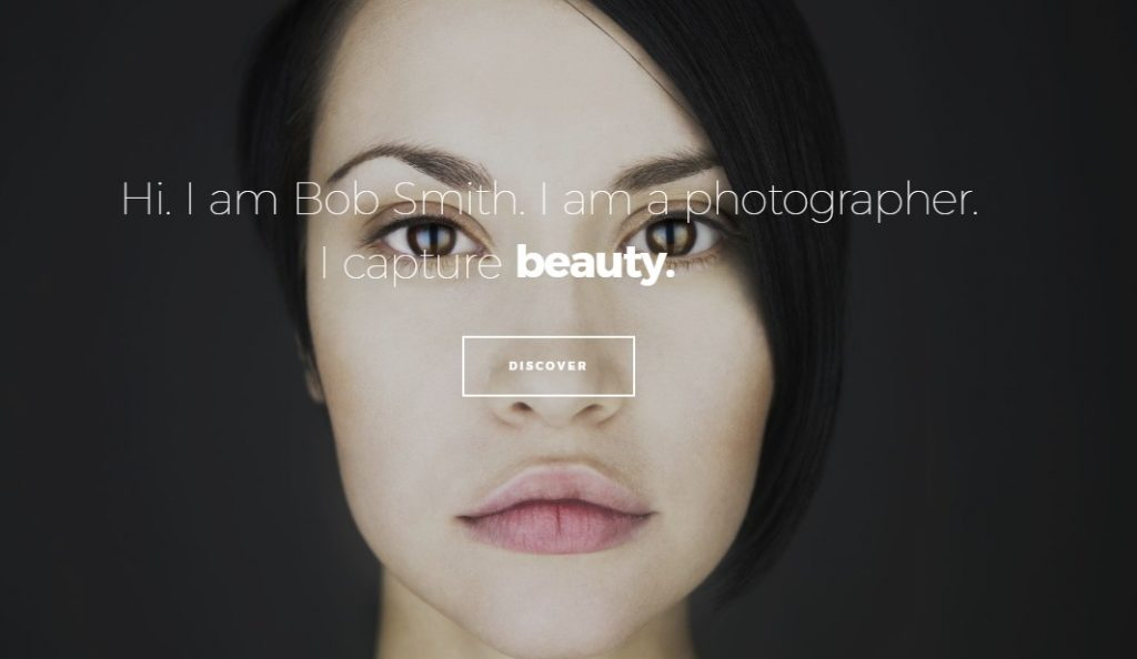 photographer wordpress theme layout