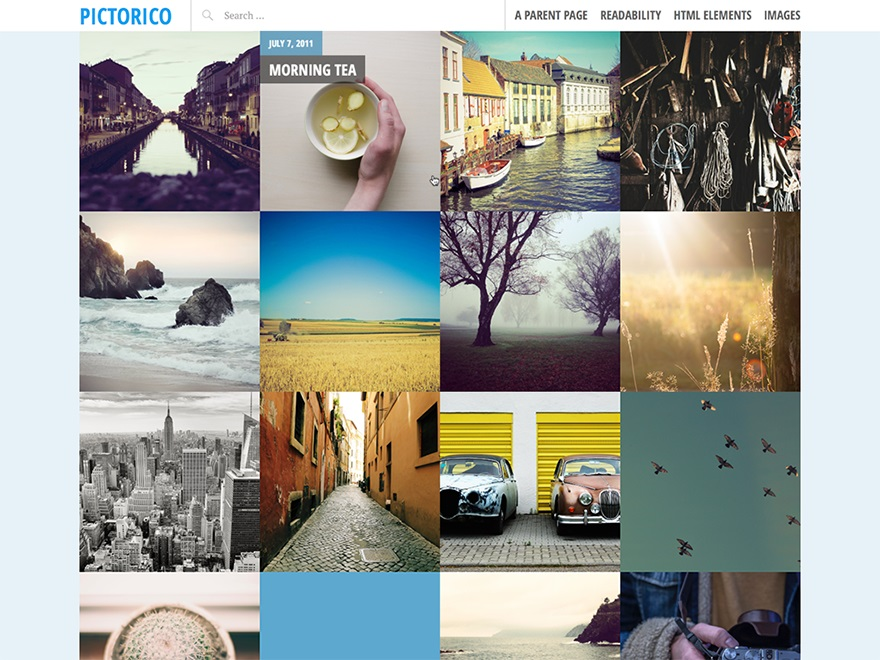 pictorico theme wordpress layout