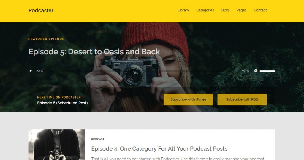 podcaster theme for wp