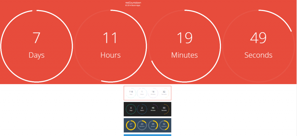 redCountdown wp plugin preview