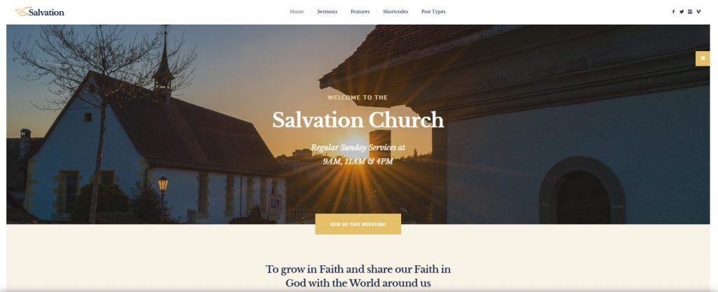salvation wp theme preview