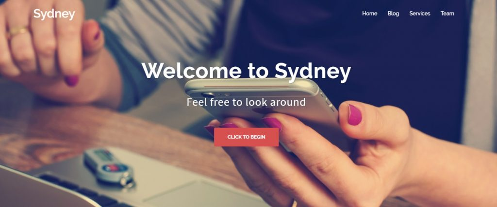 sydney wp theme preview