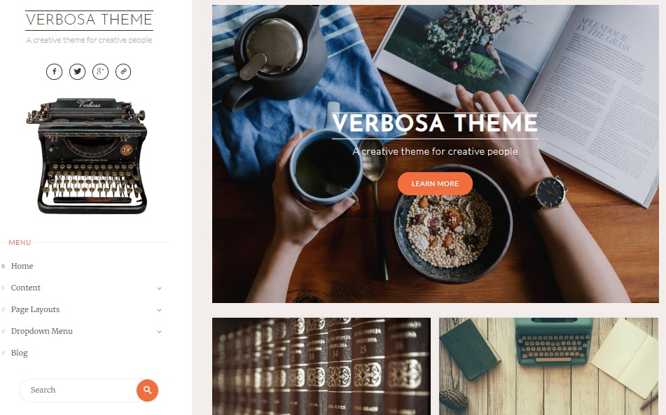verbosa wp theme layout