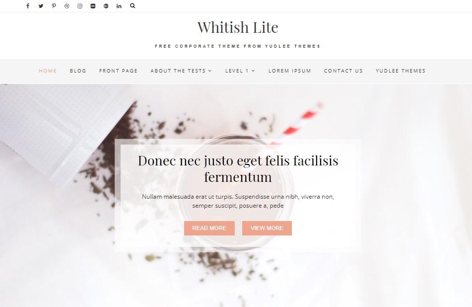 whitish lite wordpress theme layout