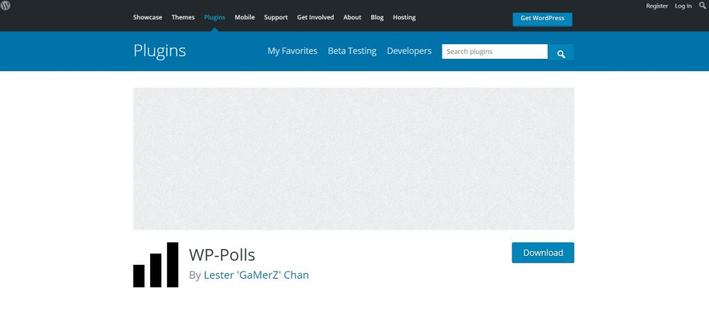 wp polls plugin download page preview