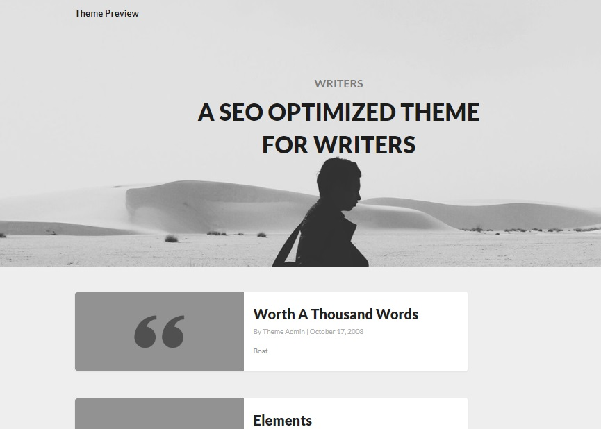 writers wp theme preview