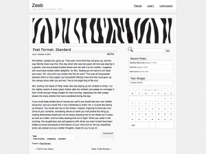 zeeb wordpress theme